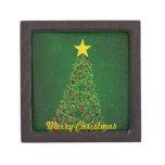 Caja de regalo del árbol de navidad de la estrella cajas de joyas de calidad