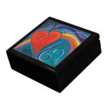 Caja de regalo del arco iris del corazón
