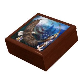 Caja de regalo del arte de Eagle del vuelo de la l