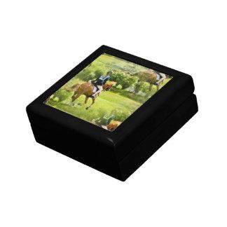 Caja de regalo del caballo de Eventing Joyero Cuadrado Pequeño