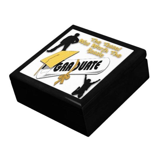 Caja de regalo del casquillo del graduado del oro joyero cuadrado grande