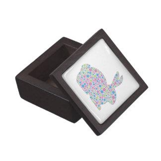 Caja de regalo del conejo de conejito de los lunar cajas de joyas de calidad