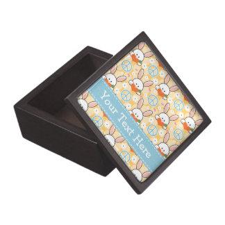 Caja de regalo del conejo de conejitos del amor de caja de joyas de calidad