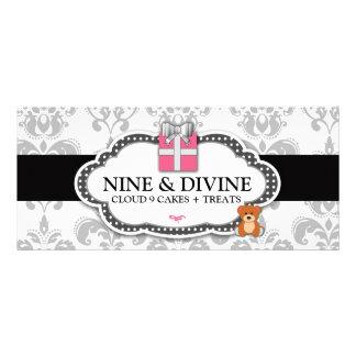 Caja de regalo del damasco del blanco gris 311 y o tarjeta publicitaria