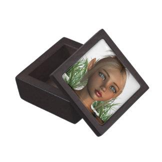 Caja de regalo del duende del duendecillo pequeña cajas de joyas de calidad