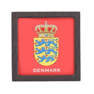Caja de regalo del escudo de armas de Denmark* Cajas De Regalo De Calidad