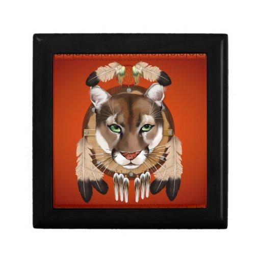 Caja de regalo del escudo del puma