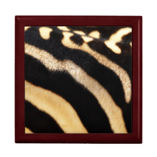 Caja de regalo del estampado de zebra joyero cuadrado grande