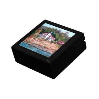 Caja de regalo del faro de la frambuesa