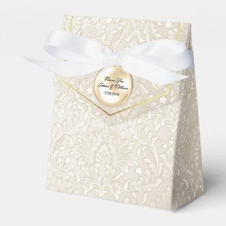 Caja de regalo del favor del boda del damasco de caja para regalos de fiestas