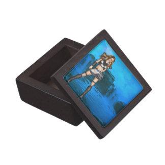Caja de regalo del guerrero del duende pequeña caja de recuerdo de calidad