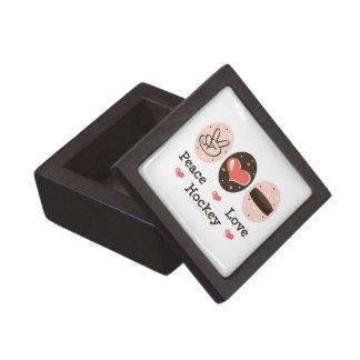 Caja de regalo del hockey del amor de la paz caja de recuerdo de calidad