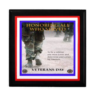 caja de regalo del honor del día de veteranos