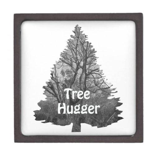 Caja de regalo del hugger del árbol cajas de recuerdo de calidad