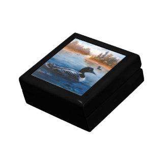 Caja de regalo del lago loon joyero cuadrado pequeño