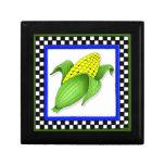 Caja de regalo del maíz en la mazorca
