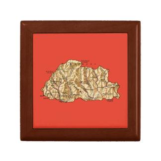 Caja de regalo del mapa de Bhután