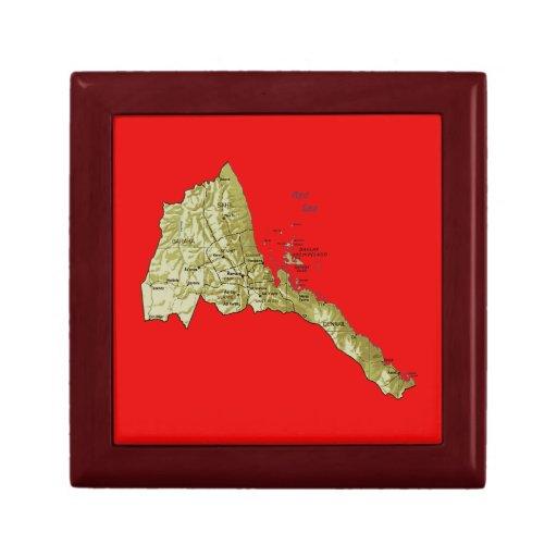 Caja de regalo del mapa de Eritrea