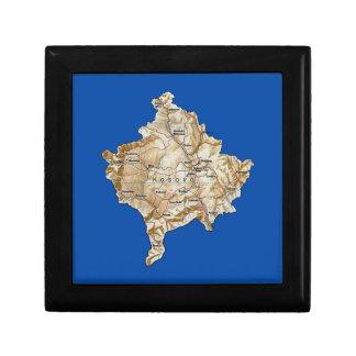 Caja de regalo del mapa de Kosovo