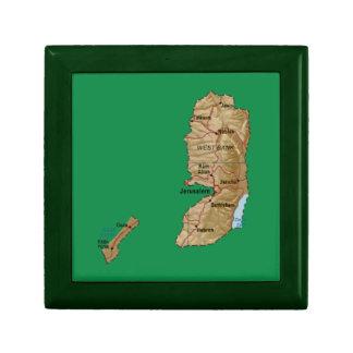 Caja de regalo del mapa de Palestina