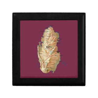 Caja de regalo del mapa de Qatar