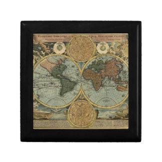 Caja de regalo del mapa de Viejo Mundo