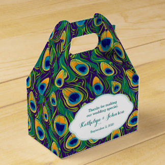 Caja de regalo del modelo de la pluma del pavo cajas para regalos