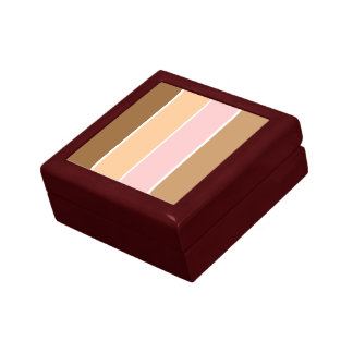 Caja de regalo del modelo de la raya joyero cuadrado pequeño