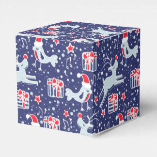 Caja de regalo del navidad del rojo azul del caja para regalos