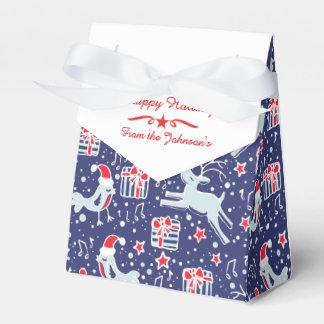 Caja de regalo del navidad del rojo azul del cajas para regalos de boda