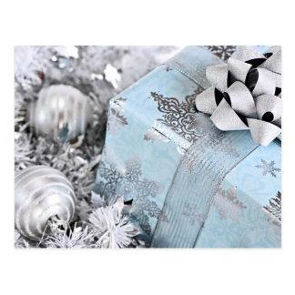 Caja de regalo del navidad tarjeta postal