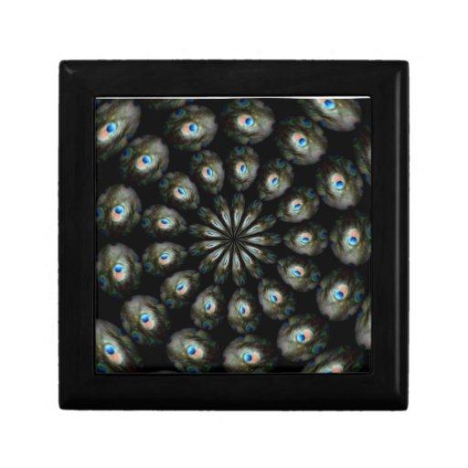 Caja de regalo del ojo del pavo real