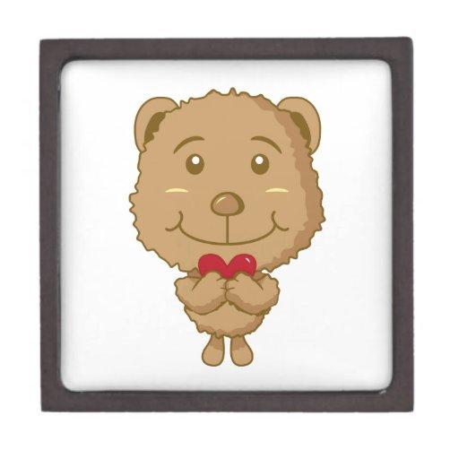 Caja de regalo del oso cajas de joyas de calidad