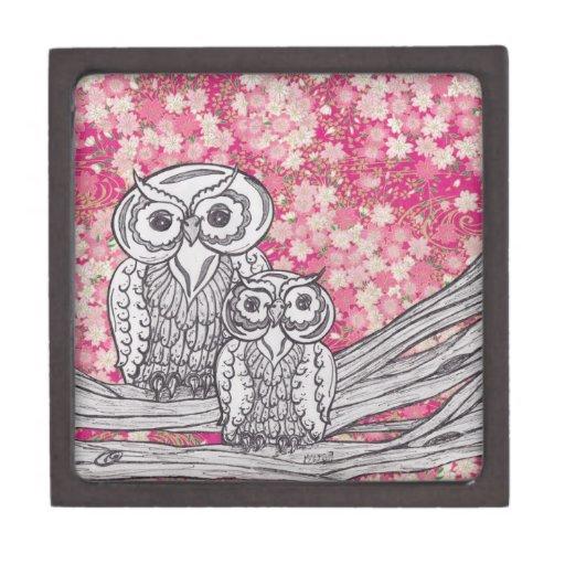 Caja de regalo del papel chino Owls4 Cajas De Recuerdo De Calidad