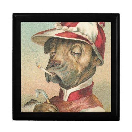 Caja de regalo del perro de la carrera de caballos joyero cuadrado grande