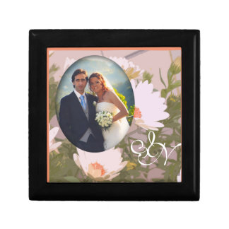 Caja de regalo del photoholder del favor del boda