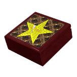 Caja de regalo del poema de la estrella del oro