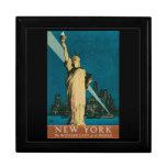 Caja de regalo del poster del viaje de Nueva York