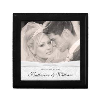 Caja de regalo del recuerdo de la foto del damasco