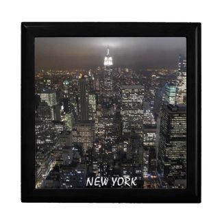 Caja de regalo del recuerdo de New York City de la Joyero Cuadrado Grande