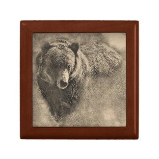 Caja de regalo del recuerdo del ejemplo del oso joyero cuadrado pequeño