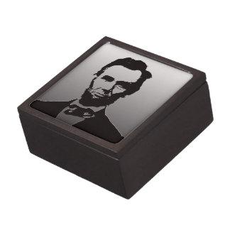 Caja de regalo del retrato de Abraham Lincoln Cajas De Joyas De Calidad