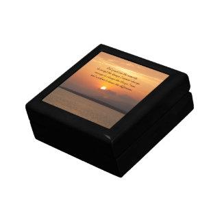 Caja de regalo del rezo de la serenidad joyero cuadrado pequeño