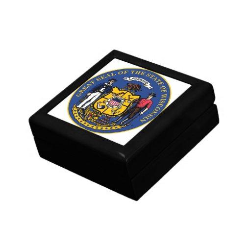 Caja de regalo del sello del estado de Wisconsin