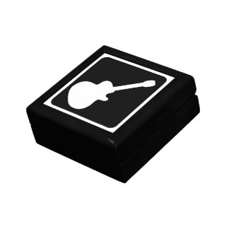 caja de regalo del símbolo de la guitarra