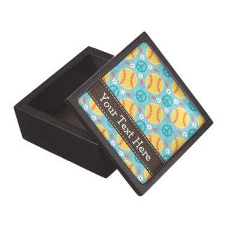 Caja de regalo del softball del amor de la paz cajas de recuerdo de calidad