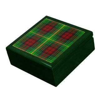 Caja de regalo del tartán de Martin Joyero Cuadrado Grande