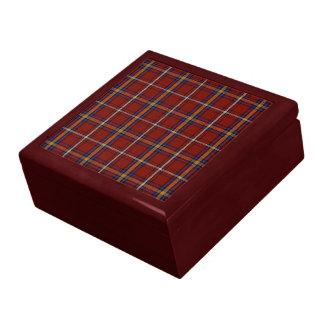 Caja de regalo del tartán de Stewart