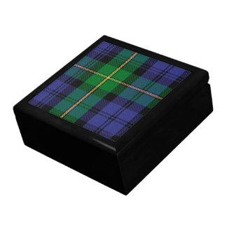 Caja de regalo del tartán del clan de Gordon