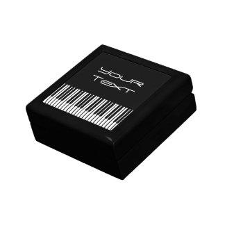 Caja de regalo del teclado de piano pequeña joyero cuadrado pequeño
